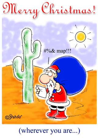 Santa in the Desert Ecard