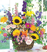 Grande Summer Flowers Basket