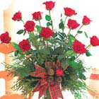 Holiday Red Roses Vase