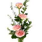 Rose Quartet Bud Vase