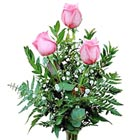Thinking Of You - Pink 3-Rose Budvase