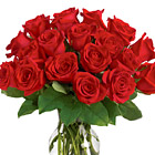 For an expression of love with a surprisingly fuller look, send our Enduring Passion deluxe, featuring eighteen premium florist quality roses designed and delivered in a tasteful glass vase. Timeless! Available in a variety of popular colors. Same day and next day florist delivery in the USA and Canada.