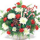 Candy Cane Basket Bouquet