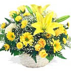 Sunshine Flowers Basket