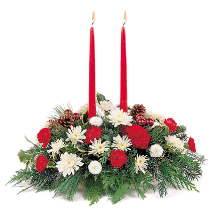 Candlelight Christmas Centerpiece (Christmas)