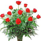America's Favorite - One Dozen Roses Vased