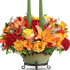 Teleflora� Golden Fall Centerpiece