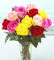 FTD� Mixed Colors Roses Bouquet