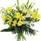 International - Yellow and White Mixed Bouquet