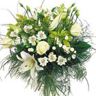 International - White Mixed Flowers Bouquet