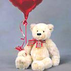Say 'I love you' 'I miss you' or 'You're special to me' with a loveable teddy bear and mylar balloon too! For care and feeding just tell the recipient to give the bear lots of hugs and cuddles while thinking of you.