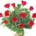 True Love Dozen Roses Vased
