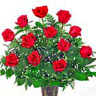 Love Always! One Dozen Roses Vased