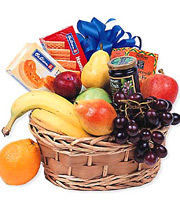 Fruit and Goodies Gift Basket #P310X