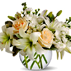 Isle of White Flowers Bouquet