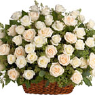 Bountiful Rose Basket Tribute