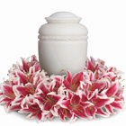 Glorious Life Funeral Urn Wreath
