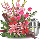 Adoring Heart Urn Arrangement