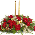Crimson and Candelight Centerpiece