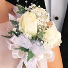 White Roses Corsage