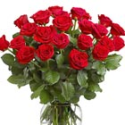 Two Dozen Roses Vased