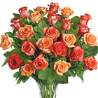 Sunrise Splendor Rose Vase