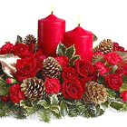 Crimson Candlelight Centerpiece