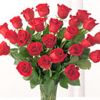 Two Dozen Red Roses with Vase