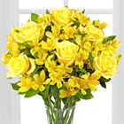 Citrus Burst Bouquet with Vase