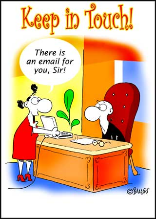 keep in touch by email ecard