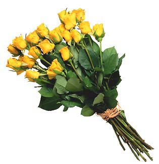 Yellow Roses Virtual Flower Bouquet