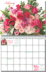 Free Wall Calendar A Year Of Flowers By 1 800 Florals