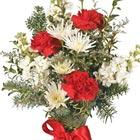 Christmas Flowers Vase