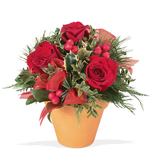 Holiday Rosey Bunch Bouquet