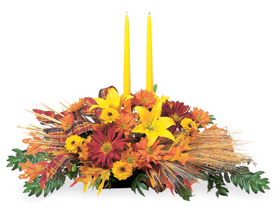 Fall Taper Candle Rings