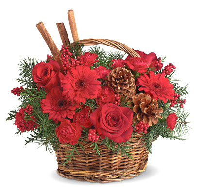 Berries and Spice Basket Bouquet