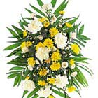 Yellow and White Sympathy Spray