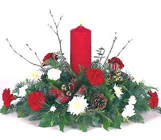 - Colonial Pillar Candle Centerpiece