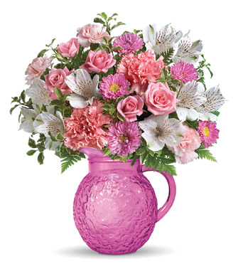 - Teleflora� Pour On Pink Bouquet