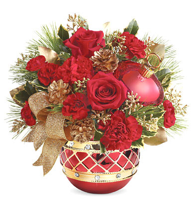 - Teleflora� Jeweled Ornament Bouquet