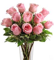 FTD® Dozen Pink Roses Bouquet