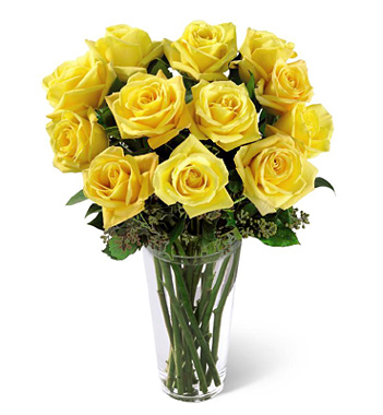 1-800-FLORALS coupon: FTD® Dozen Yellow Roses Bouquet
