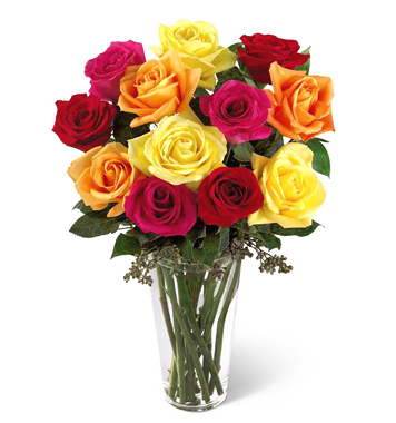 FTD� Bright Spark Roses Bouquet