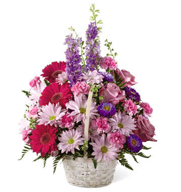 FTD Pastel Peace Flowers Basket