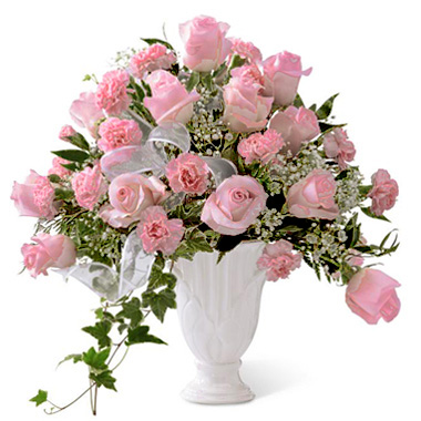 FTD Deepest Sympathy Flowers Arrangement with Pink Roses