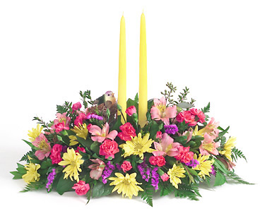 Spring Candle Centerpiece