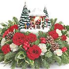 Teleflora� Thomas Kinkade''s Jolly Santa