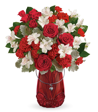 - Teleflora® Red Haute Bouquet