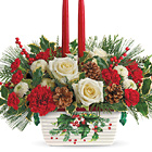Teleflora® Halls Of Holly Centerpiece