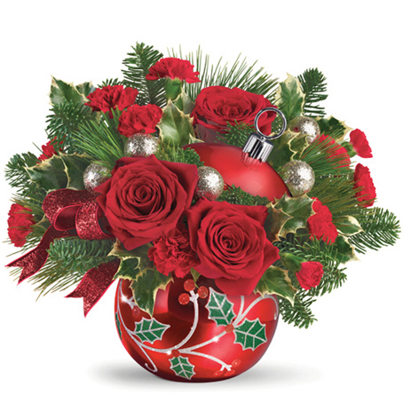 Teleflora� Deck The Holly Ornament